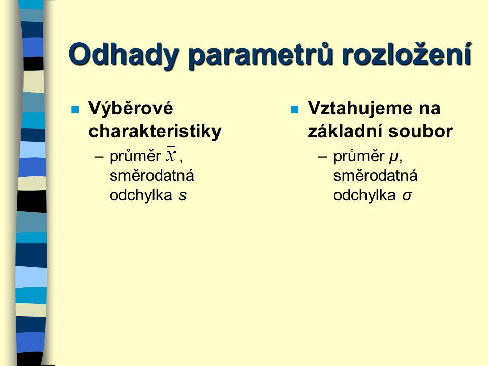 Odhady parametrů rozložení