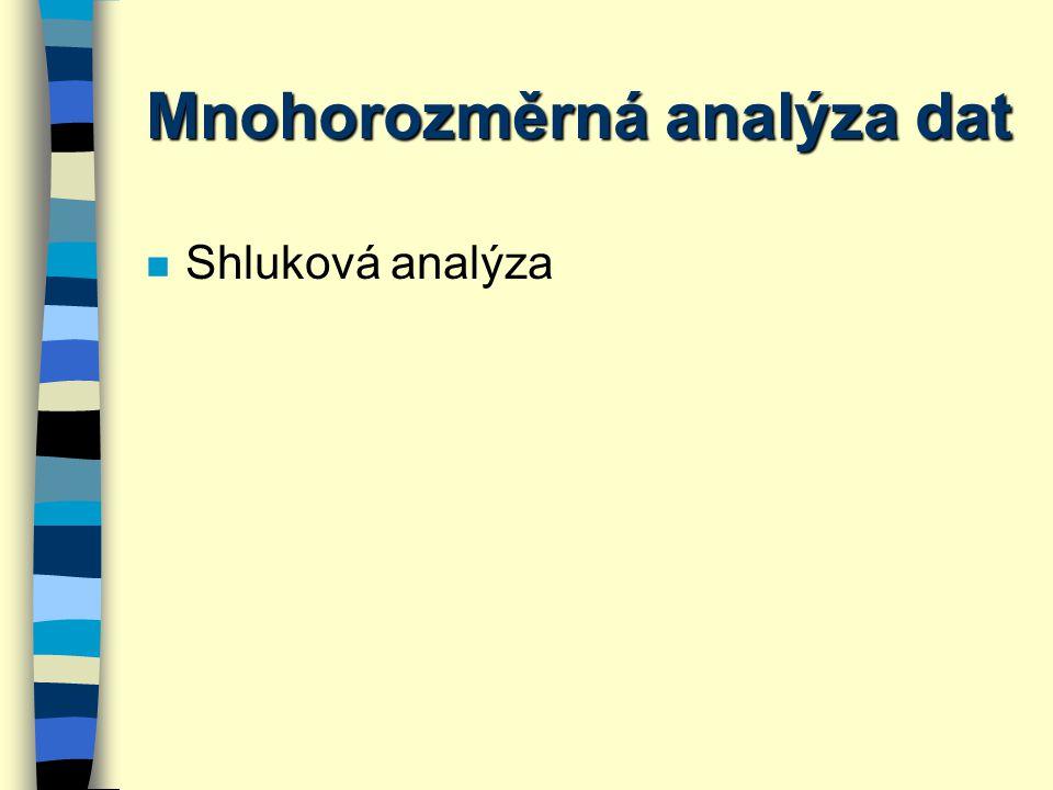 Mnohorozměrná analýza dat