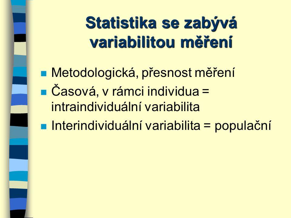 Statistika se zabývá variabilitou měření