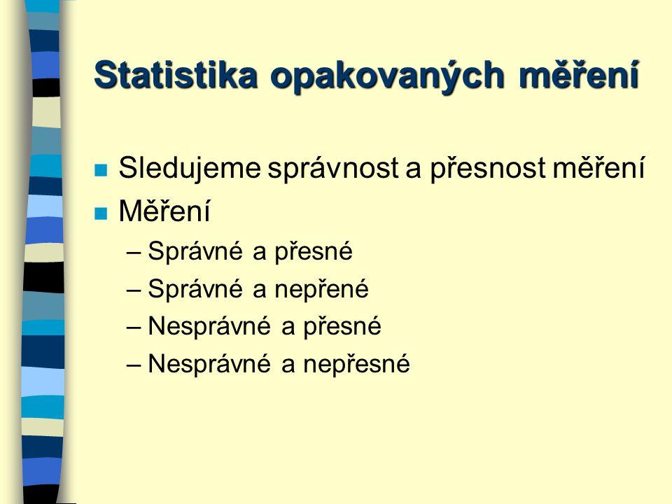 Statistika opakovaných měření