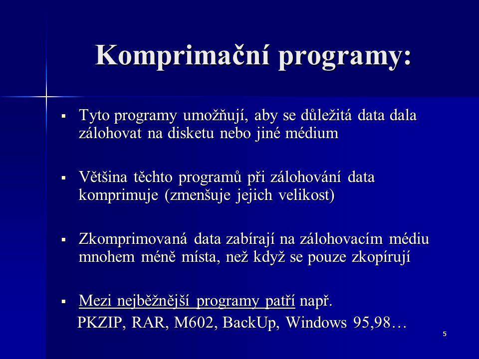 Komprimační programy: