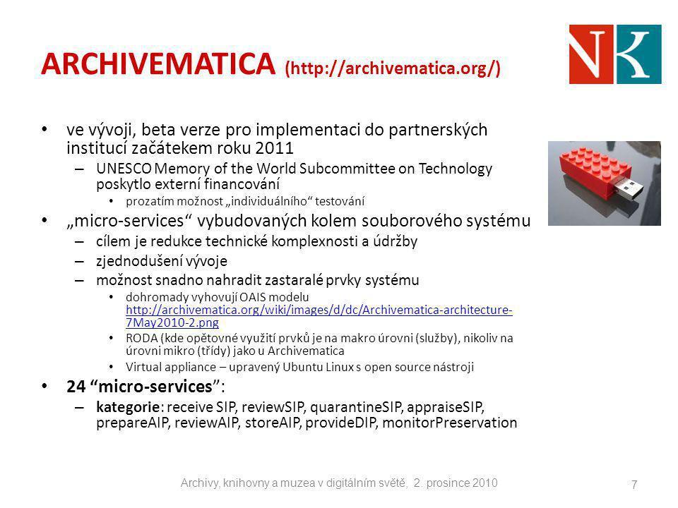 ARCHIVEMATICA (http://archivematica.org/)