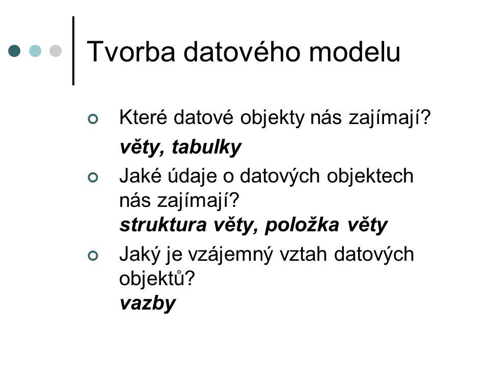 Tvorba datového modelu