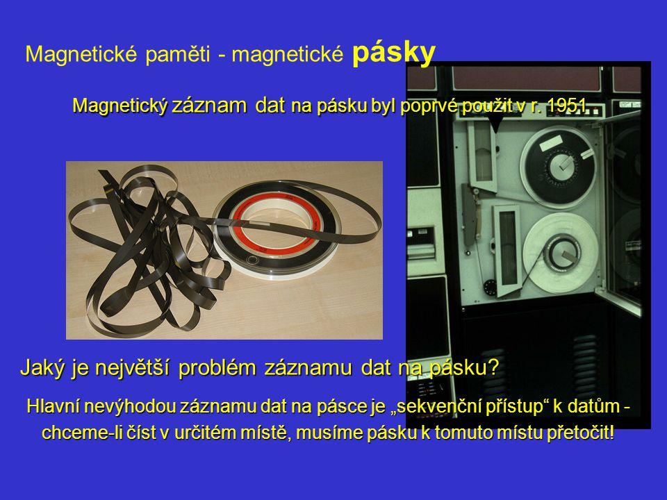 Magnetické paměti - magnetické pásky
