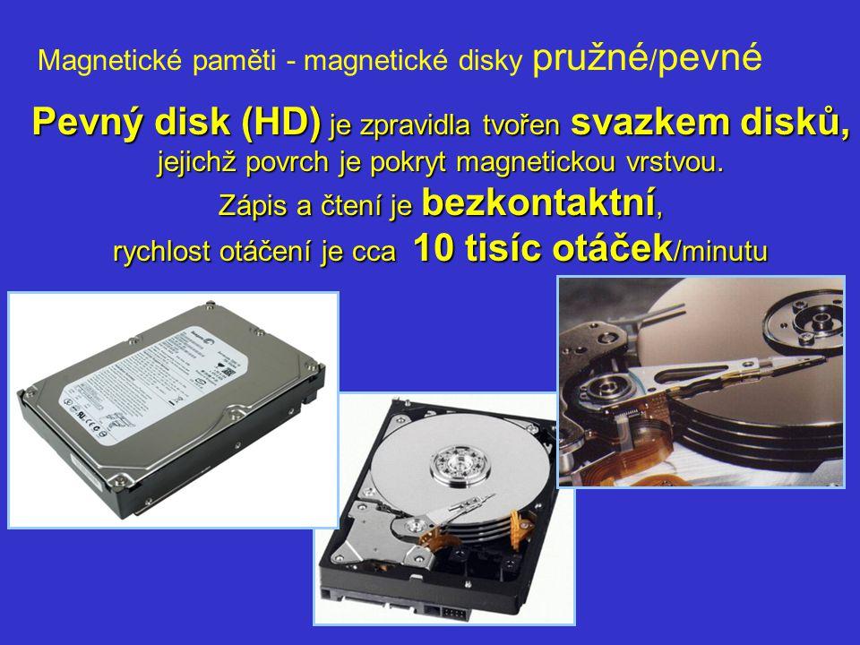 Magnetické paměti - magnetické disky pružné/pevné
