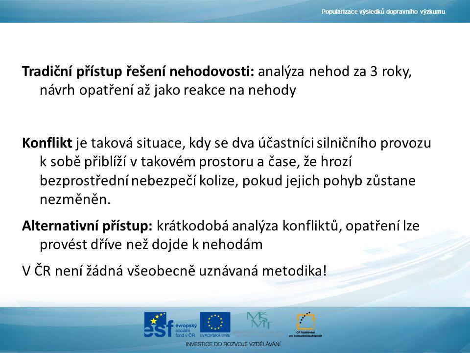 V ČR není žádná všeobecně uznávaná metodika!