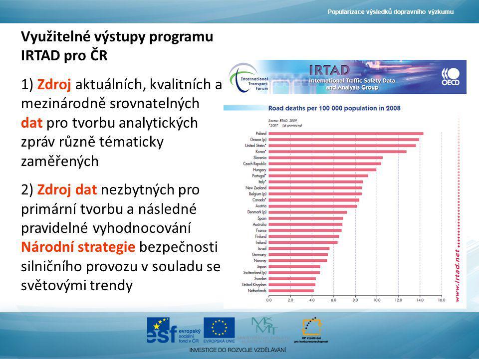 Využitelné výstupy programu IRTAD pro ČR