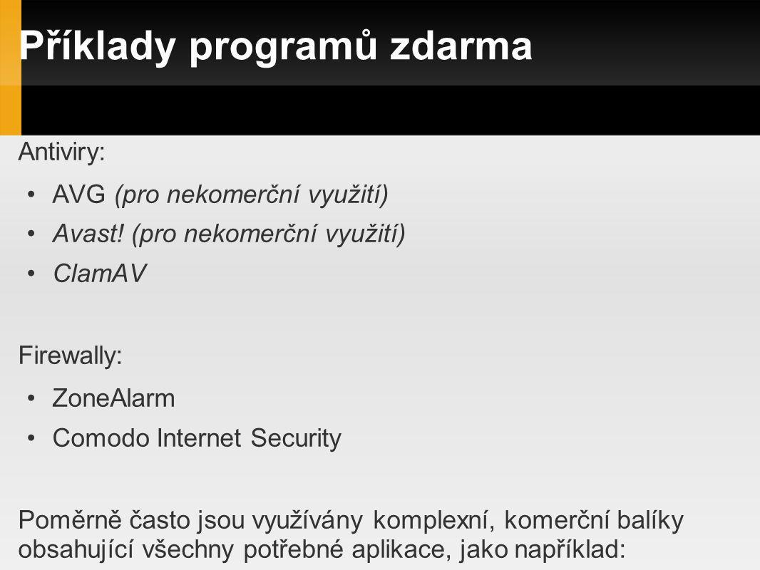 Příklady programů zdarma