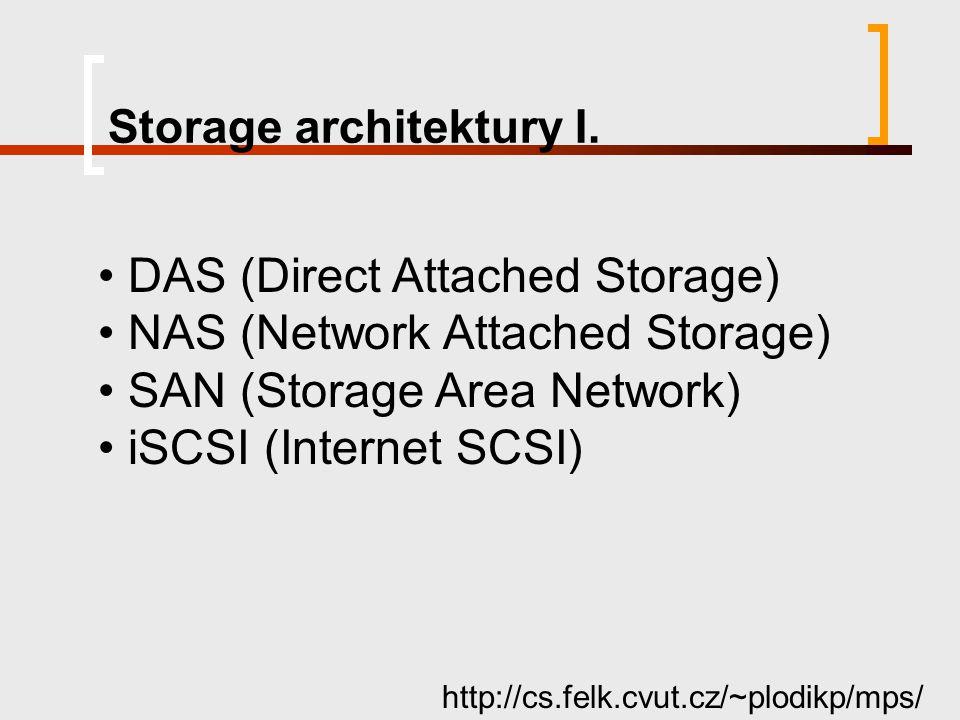 Storage architektury I.