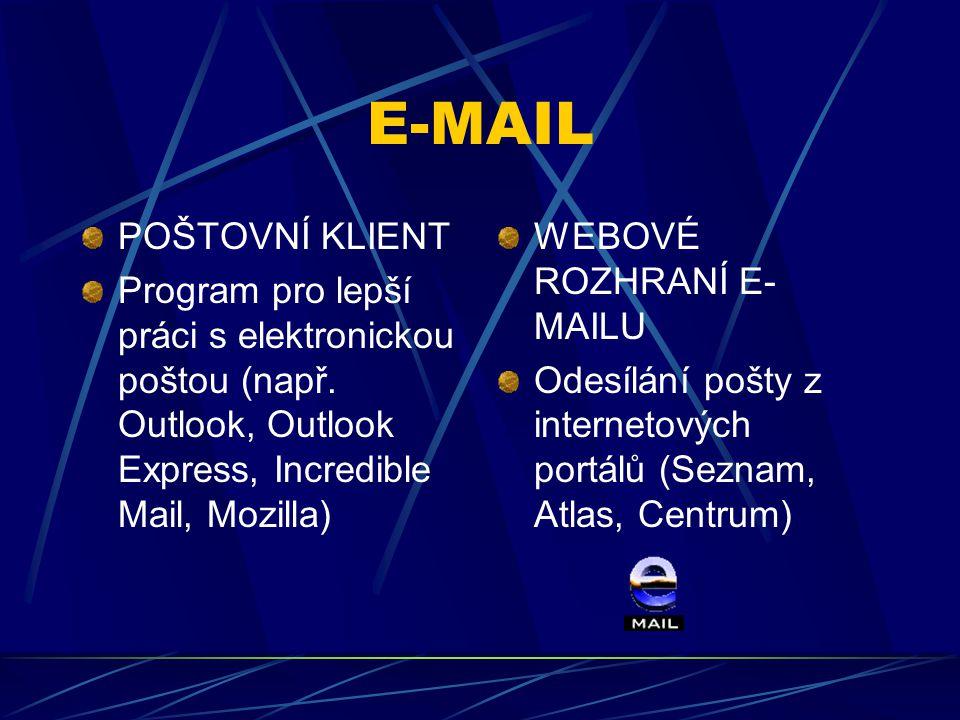 E-MAIL POŠTOVNÍ KLIENT
