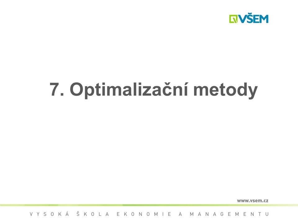 7. Optimalizační metody