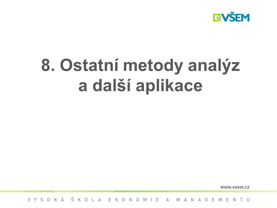 8. Ostatní metody analýz a další aplikace
