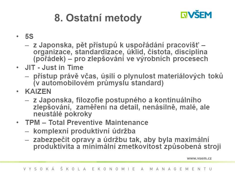 8. Ostatní metody 5S.