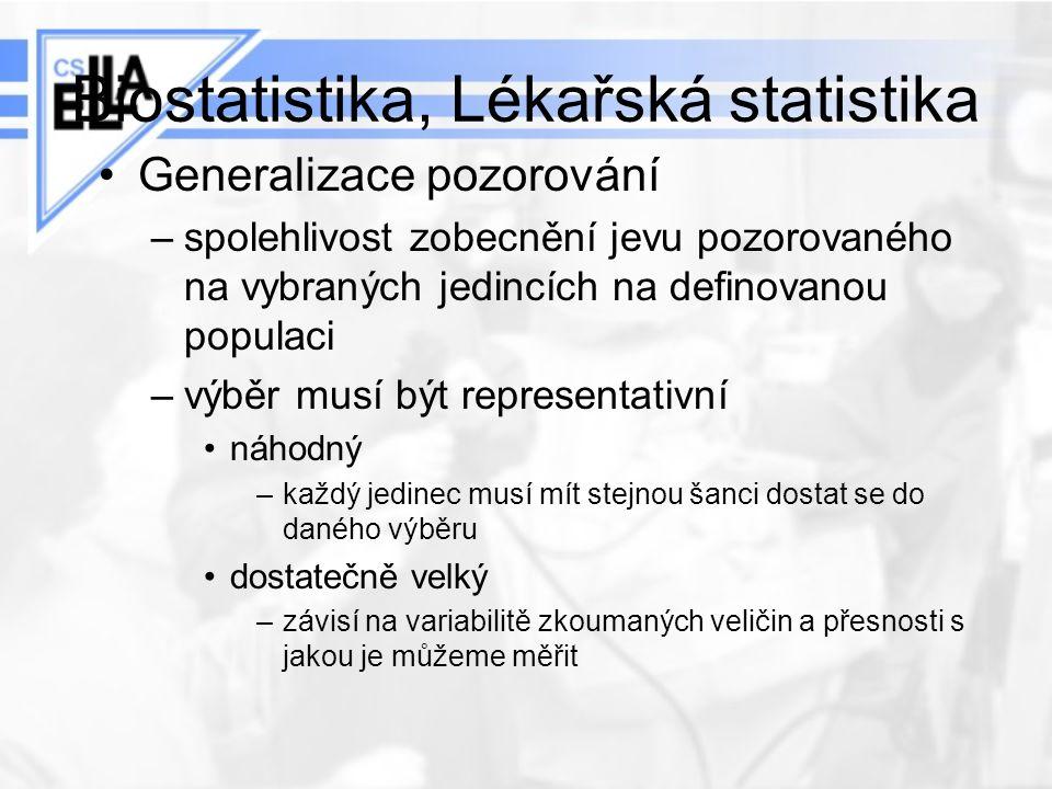 Biostatistika, Lékařská statistika