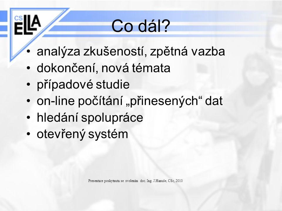 Presentace poskytnuta se svolením doc. Ing. J.Hanuše, CSc, 2010