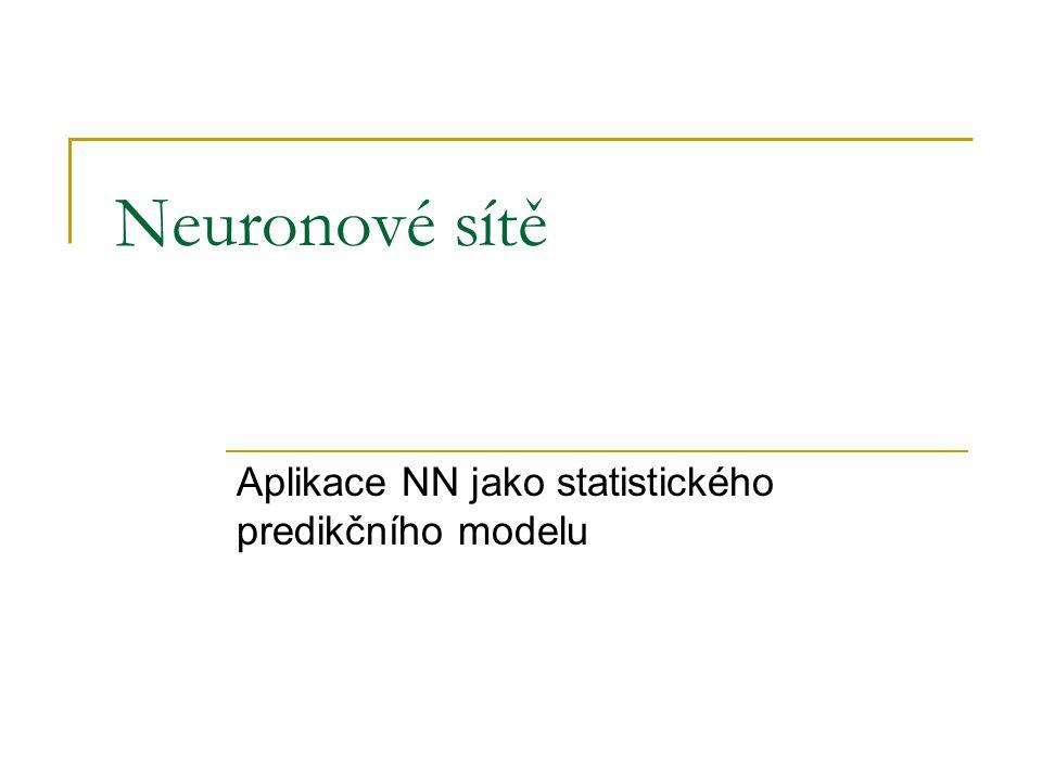 Aplikace NN jako statistického predikčního modelu
