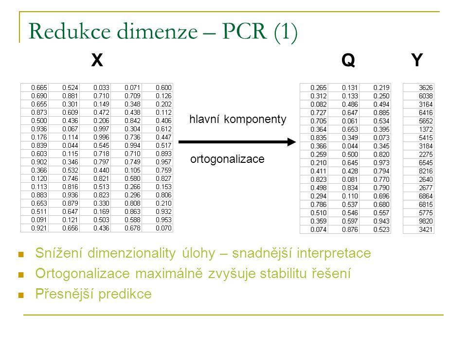 Redukce dimenze – PCR (1)