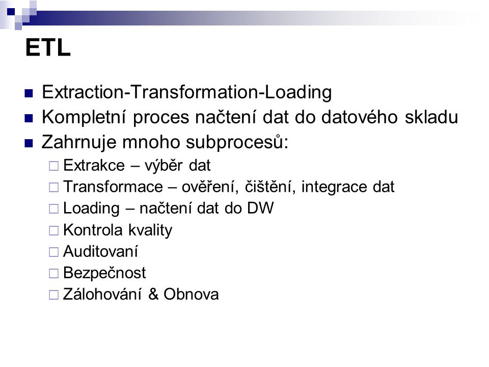 ETL Extraction-Transformation-Loading