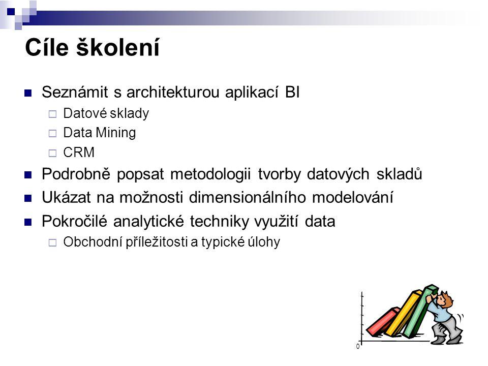Cíle školení Seznámit s architekturou aplikací BI