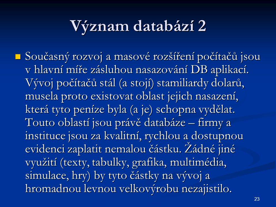 Význam databází 2