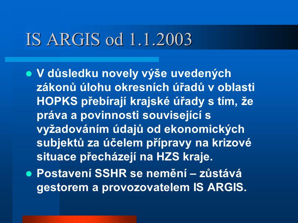 IS ARGIS od 1.1.2003