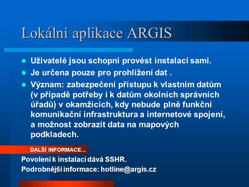 Lokální aplikace ARGIS