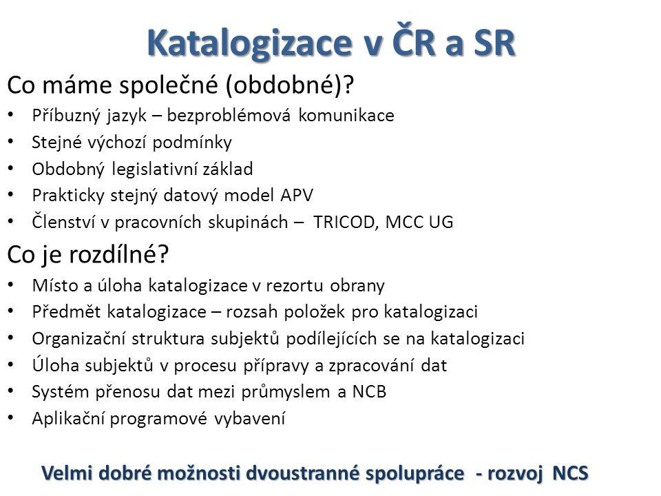 Katalogizace v ČR a SR Co máme společné (obdobné) Co je rozdílné