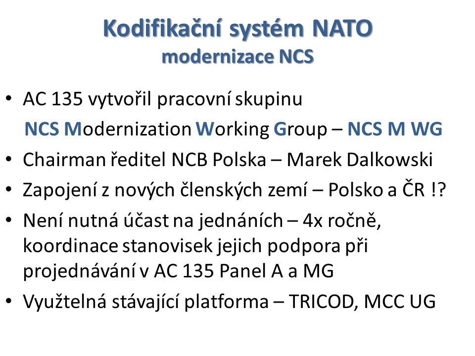 Kodifikační systém NATO modernizace NCS