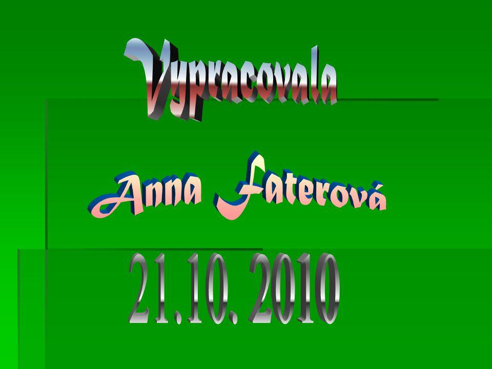 Vypracovala Anna Faterová 21.10. 2010