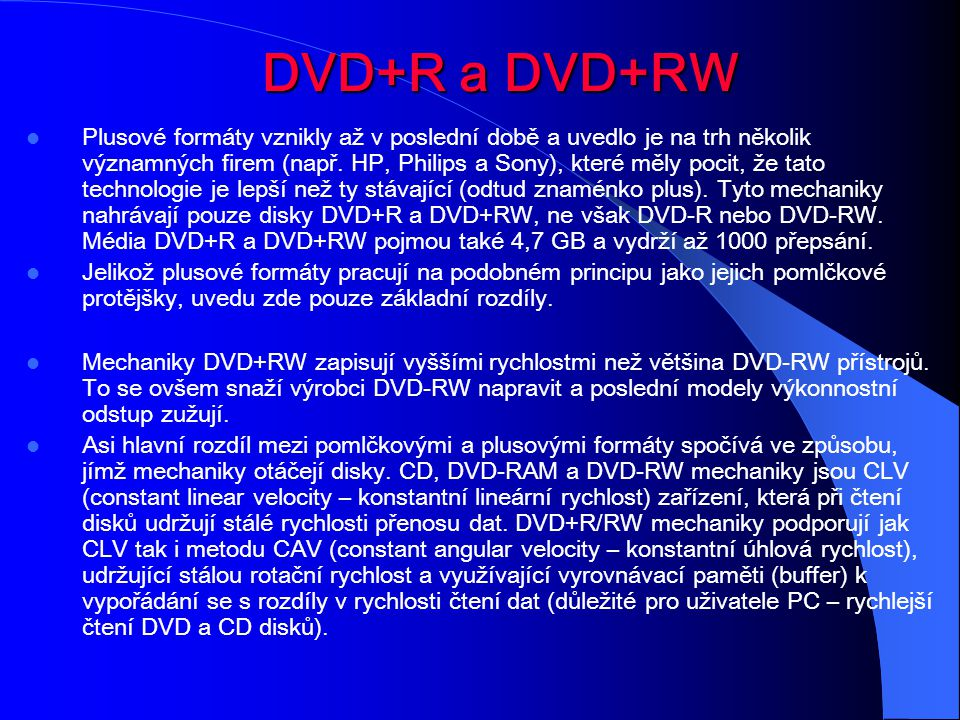 DVD+R a DVD+RW