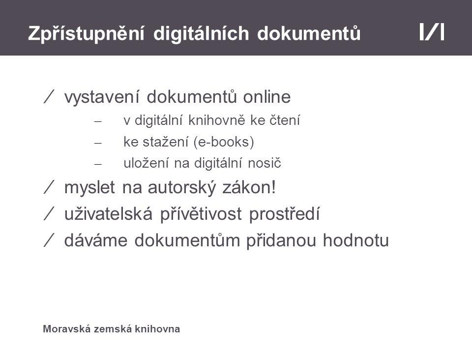 Zpřístupnění digitálních dokumentů