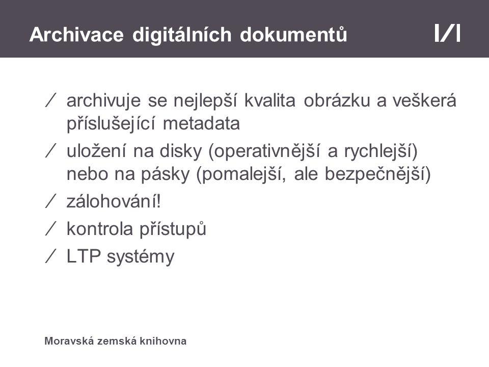 Archivace digitálních dokumentů