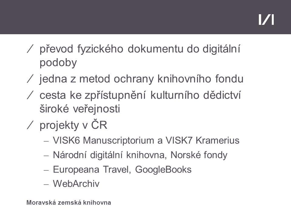 Digitalizace převod fyzického dokumentu do digitální podoby