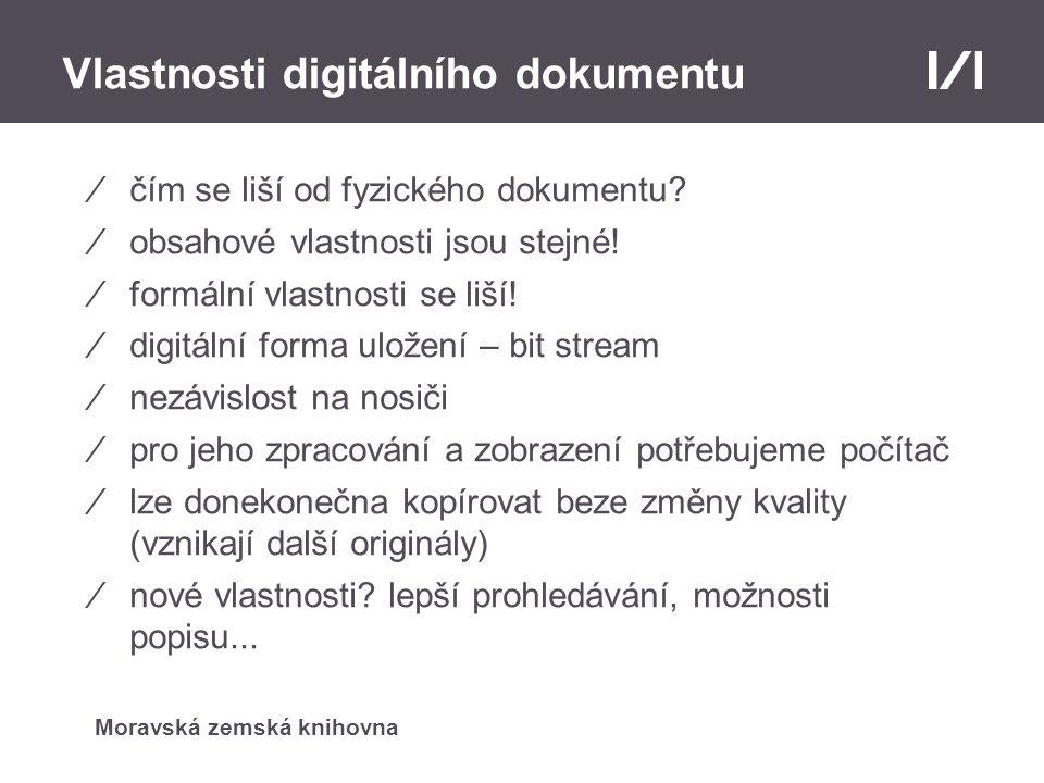 Vlastnosti digitálního dokumentu