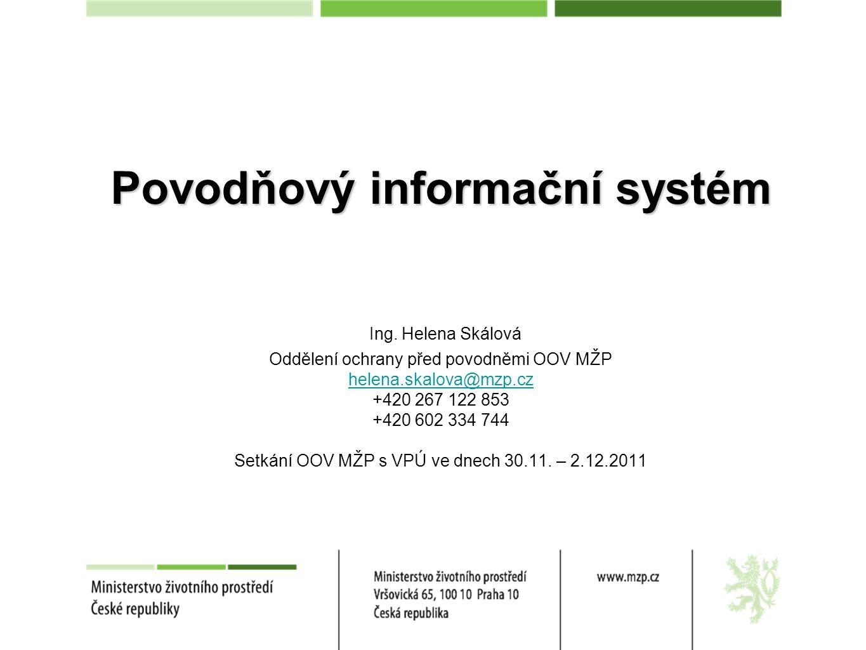 Povodňový informační systém Ing