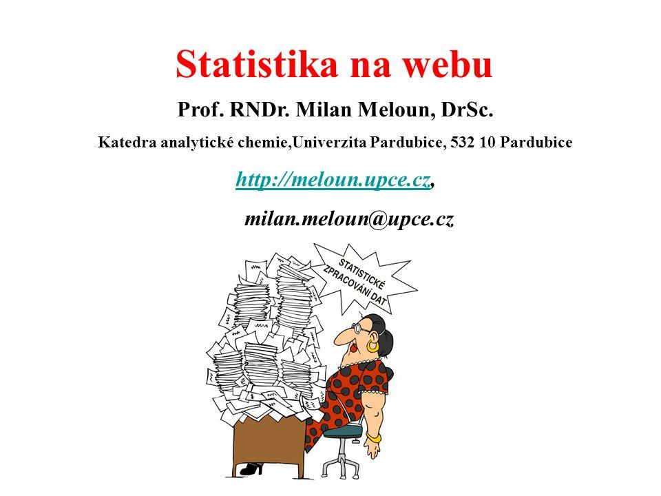 Statistika na webu Prof. RNDr. Milan Meloun, DrSc.