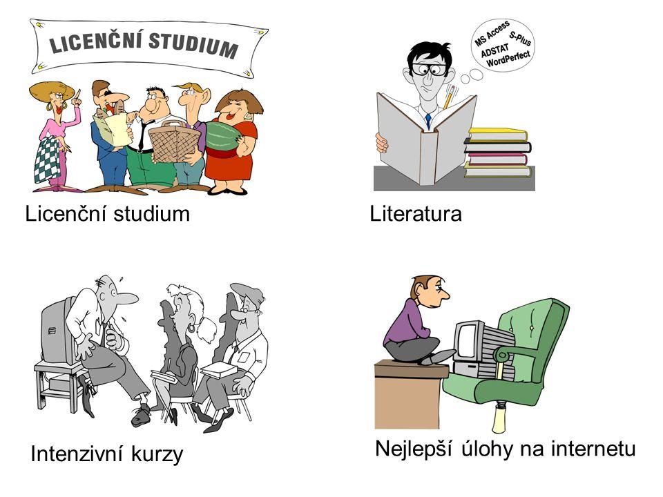 Licenční studium Literatura Nejlepší úlohy na internetu Intenzivní kurzy