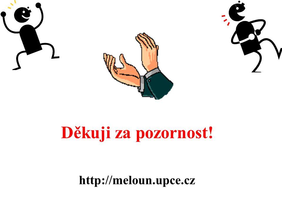 Děkuji za pozornost! http://meloun.upce.cz
