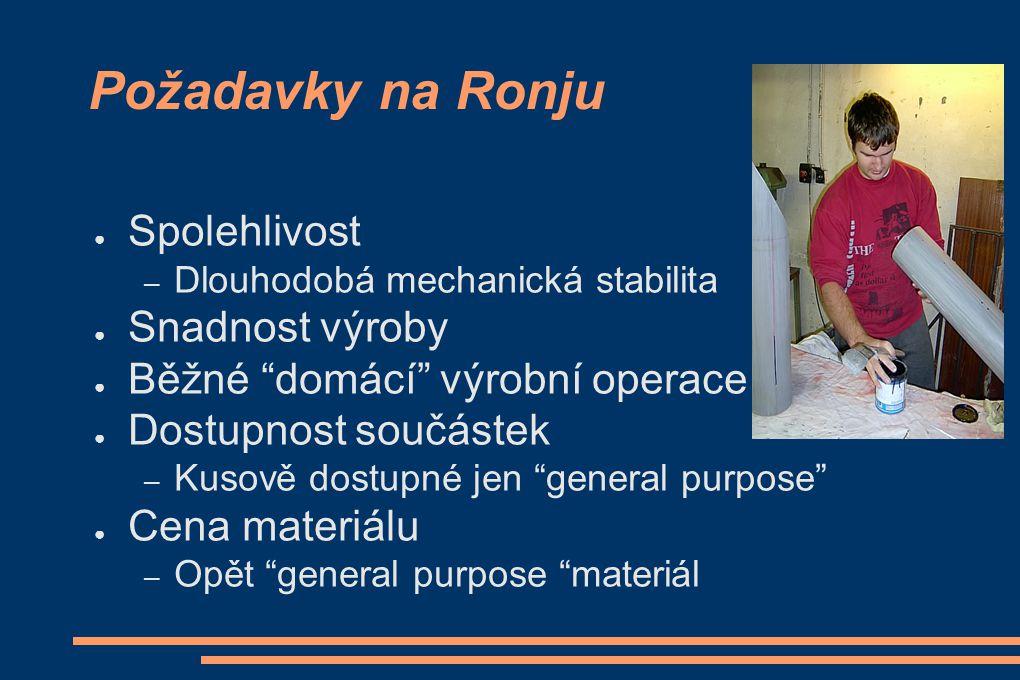Požadavky na Ronju Spolehlivost Snadnost výroby