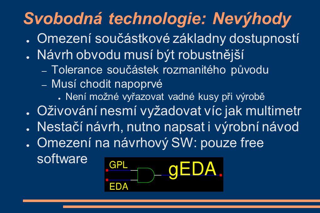 Svobodná technologie: Nevýhody
