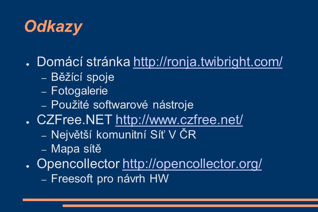 Odkazy Domácí stránka http://ronja.twibright.com/