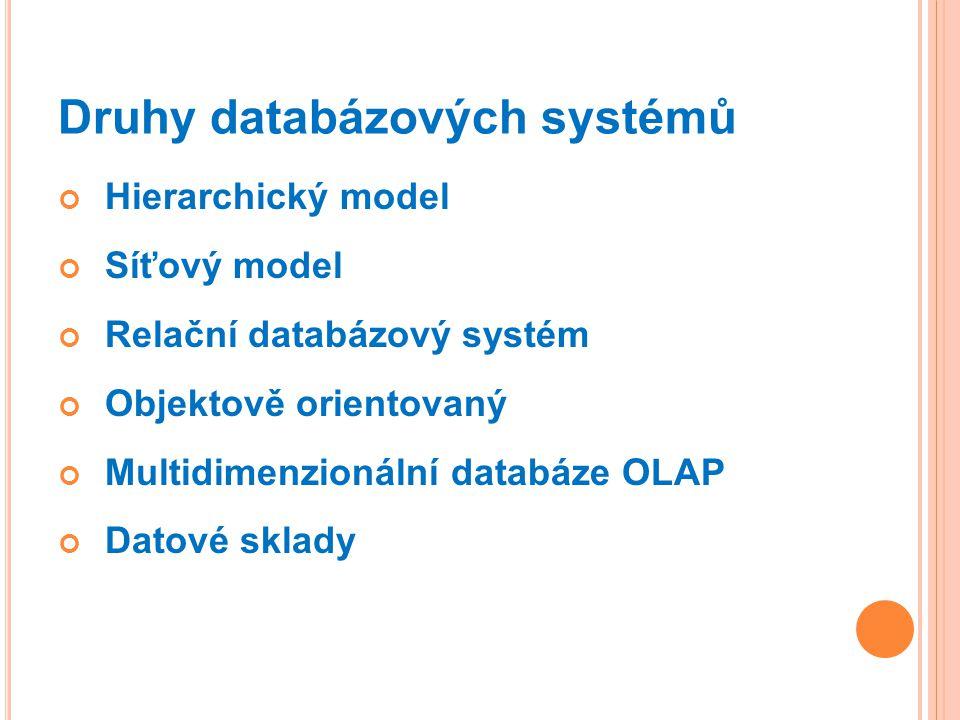 Druhy databázových systémů