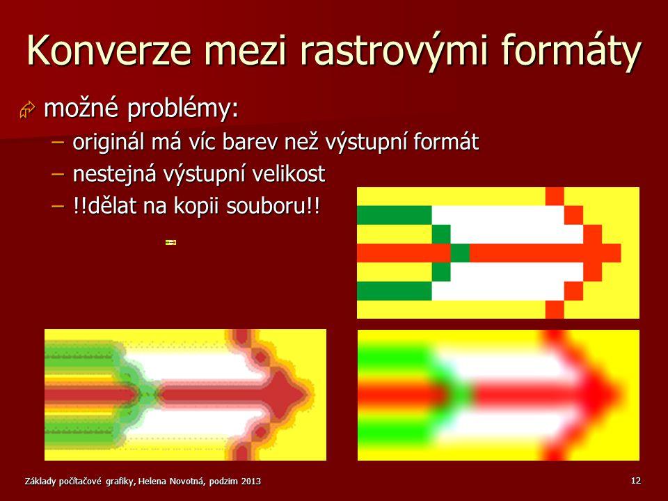 Konverze mezi rastrovými formáty