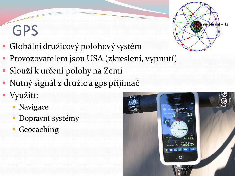 GPS Globální družicový polohový systém