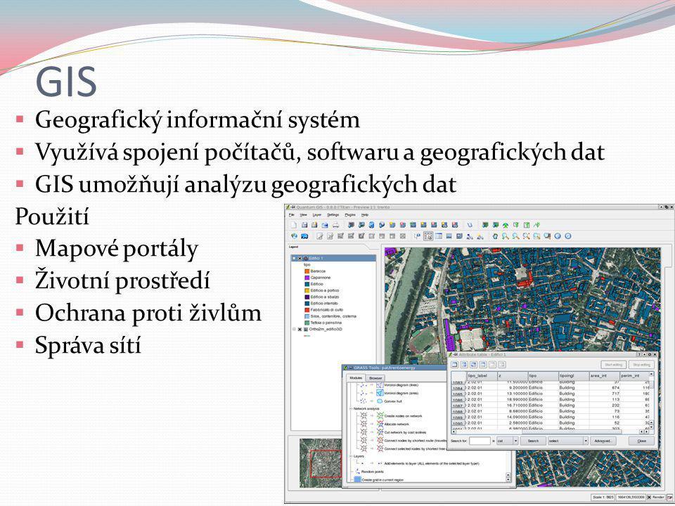 GIS Geografický informační systém