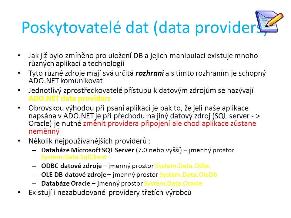 Poskytovatelé dat (data providers)
