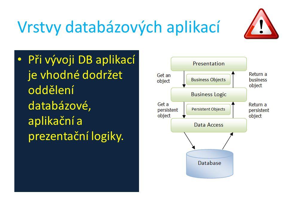 Vrstvy databázových aplikací