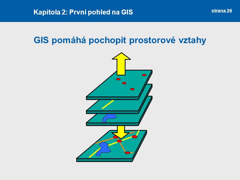 GIS pomáhá pochopit prostorové vztahy