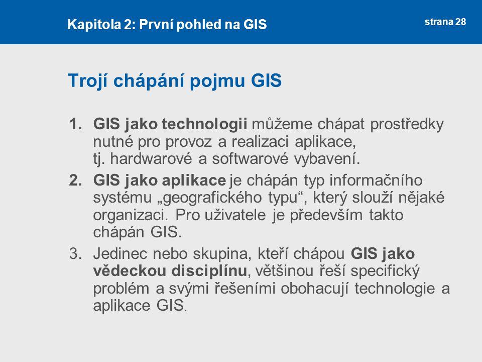 Trojí chápání pojmu GIS