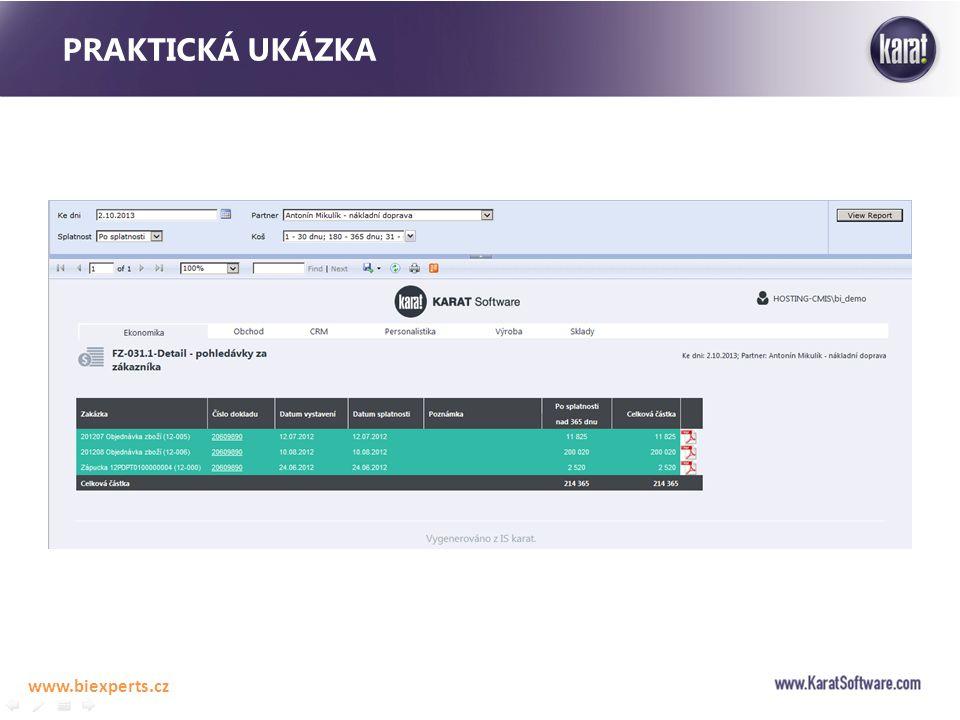 Praktická ukázka www.biexperts.cz